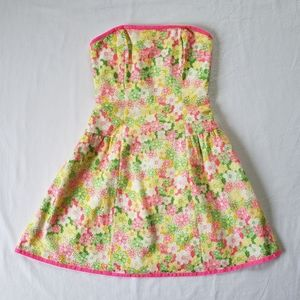 LILLY PULITZER Strapless Daisy Lace Dress